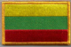 Lithuania Embroidered Flag Patch, style 08.